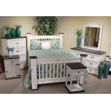 White Queen Mission Bed