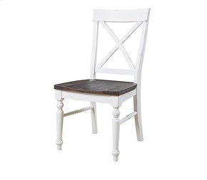 Mountain Retreat - X-back Dining Chair W/wood Seat