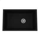 Matte Black Allia Fireclay Single Bowl Undermount Kitchen Sink Product Image