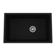 Matte Black Allia Fireclay Single Bowl Undermount Kitchen Sink
