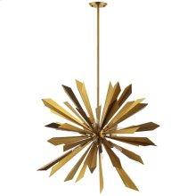 Pervade Starburst Brass Pendant Light Chandelier in
