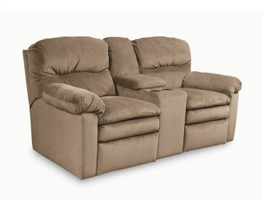 Touchdown Double Reclining Console Loveseat with Storage