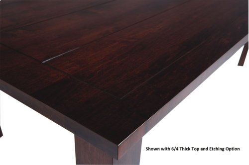 "42/72 Solid 5/4 Thick Top Large Essex Leg Table w/2-18"" Leaf Kits"