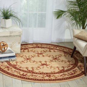 Ashton House As07 Bge Round Rug 5'6'' X 5'6''