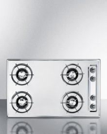 """30"""" Wide Gas Cooktop In Brushed Chrome, With Four Burners and Gas Spark Ignition; Replaces Ztl053"""