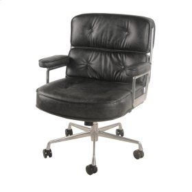 Fred PU Office Chair, Vintage Coal