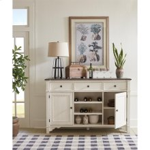 Grand Haven - Buffet - Feathered White/rich Charcoal Finish