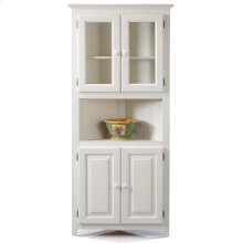 Solid Pine Corner Cabinet with Doors