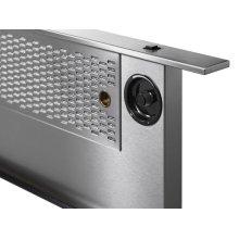 """Modernist 30"""" Downdraft for Ranges, Silver Stainless Steel"""