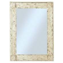 Distressed Ivory Rectangle Mirror.
