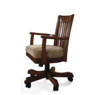 Cantata Upholstered Desk Chair Burnished Cherry finish Product Image