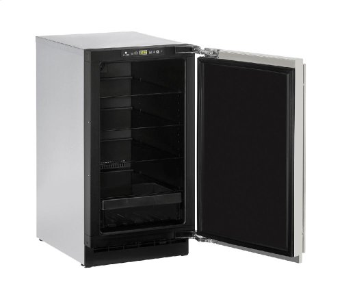 """2000 Series 18"""" Solid Door Refrigerator With Stainless Solid Finish and Field Reversible Door Swing"""