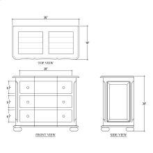 Bombe 3 Drawer Dresser Small