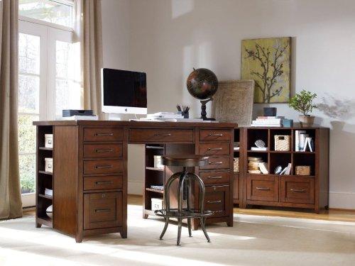 Wendover Utility Desk Complete (Two Drawer Pedestals)