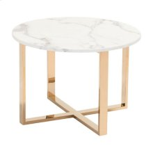 Globe End Table Stone & Gold