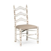 White Oak Ladder Back Country Chair (Side)