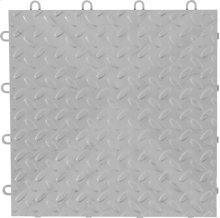 "Gladiator® 12"" x 12"" Tile Flooring (4-Pack) - Silver Tread"