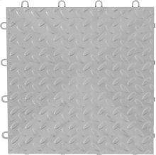 "Gladiator® 12"" x 12"" Tile Flooring (4-Pack) - Silver Tread"