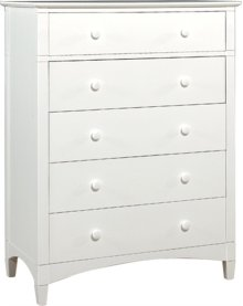 Essex 5 Drawer Chest white