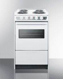 "20"" Wide Slide-in Electric Range In White With Oven Window, Light, and Lower Storage Compartment; Replaces Wem115r"