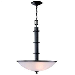 Ceiling Lamp, Dark Bronze W/frost Glass Shade, Type A 60wx3