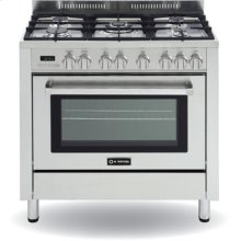 """Stainless Steel 36"""" Self Cleaning Dual Fuel Single Oven Range"""