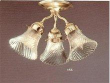 3 Light Polished Brass Ceiling Mount