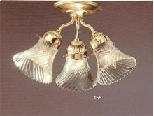 3 Light Polished Brass Ceiling Mount