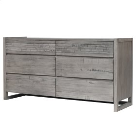 Callisto Dresser with 6 Drawers, Weathered Gray