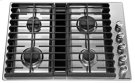 """30"""" 4 Burner Gas Downdraft Cooktop - Stainless Steel Product Image"""