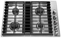 "30"" 4 Burner Gas Downdraft Cooktop - Stainless Steel"