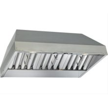 "46-3/8"" x 19-1/4"" Stainless Steel Built-In Range Hood with Internal Pro 600 CFM Blower"