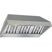 "46-3/8"" x 19-1/4"" Stainless Steel Built-In Range Hood with Internal Pro 600 CFM Blower"