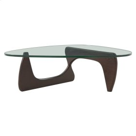 Atwood KD Coffee Table Glass Top, Walnut