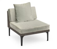 "32"" Dark Grey Rattan One-Seat Centre Sofa Sectional, Upholstered in Standard Outdoor Fabric"