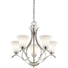 Keiran 5 Light Chandelier Brushed Nickel