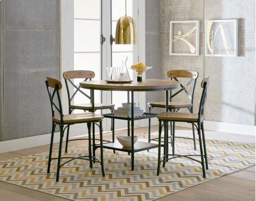 STANDARD 16351-16354 Ridgewood Round Pub Table With 4 Metal Bar Stools