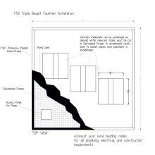 Installation Kit for 39 inch Triple Basalt Fountain