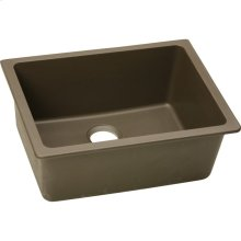 "Elkay Quartz Classic 24-5/8"" x 18-1/2"" x 9-1/2"", Single Bowl Undermount Sink, Mocha"