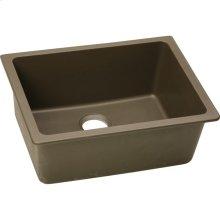 "Elkay Quartz Classic 24-5/8"" x 18-1/2"" x 9-1/2"", Single Bowl Undermount Sink, Mocha"