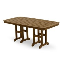 "Teak Nautical 37"" x 72"" Dining Table"