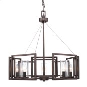 Marco 5 Light Chandelier in Gunmetal Bronze with Clear Glass