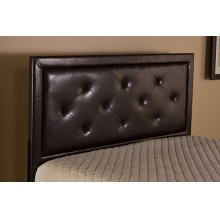 Becker King Headboard - Brown Faux Leather