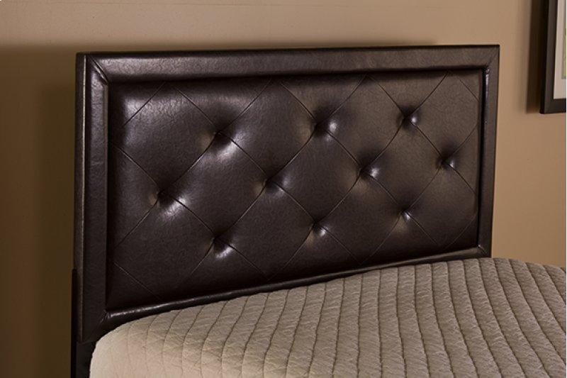 Becker King Headboard Brown Faux Leather