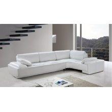 Divani Casa Blanco - Modern Leather Sectional Sofa