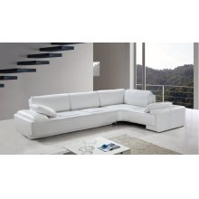 Divani Casa Blanco - Modern Leather Sectional Sofa