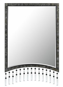 ARGENTA RECTANGULAR METAL MIRROR WITH BEVELED GLASS