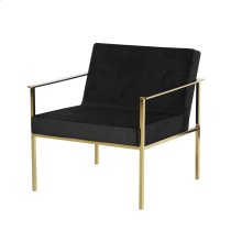 Black/gold Velveteen Arm Chair