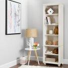 Narrow 6-Shelf Bookcase - White Wash Product Image