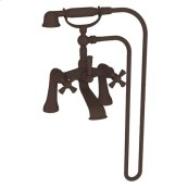 Oil Rubbed Bronze Exposed Tub & Hand Shower Set - Deck Mount